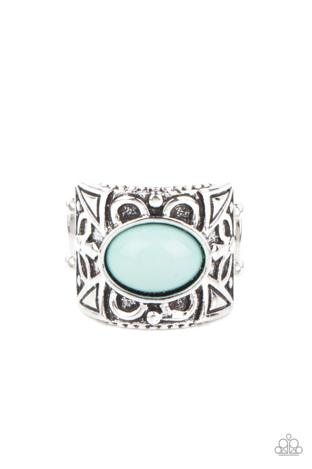 Bubbly Bonanza - Blue - Paparazzi Ring Image