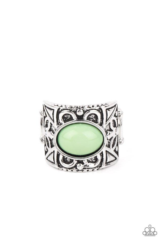 Bubbly Bonanza - Green - Paparazzi Ring Image