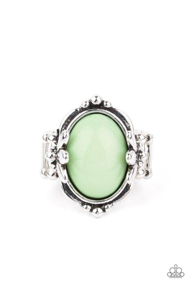 Springtime Splendor - Green - Paparazzi Ring Image