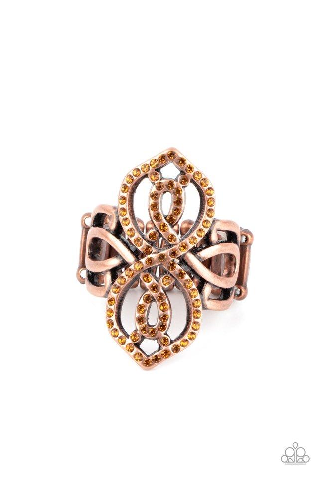 Duchess Drama - Copper - Paparazzi Ring Image