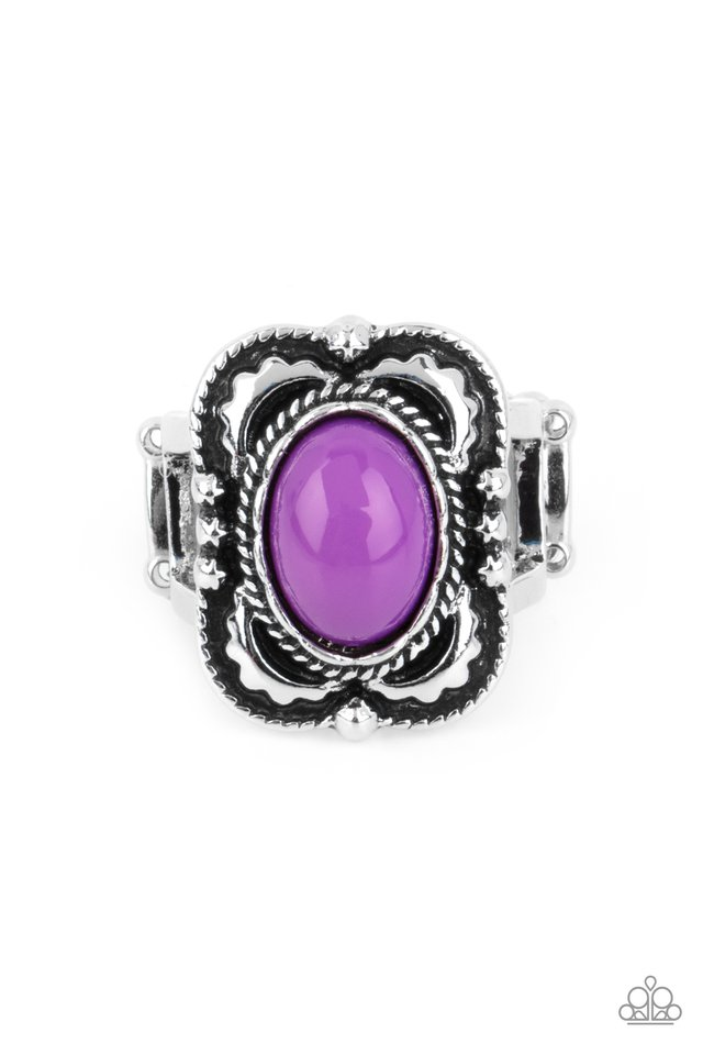 Vivaciously Vibrant - Purple - Paparazzi Ring Image