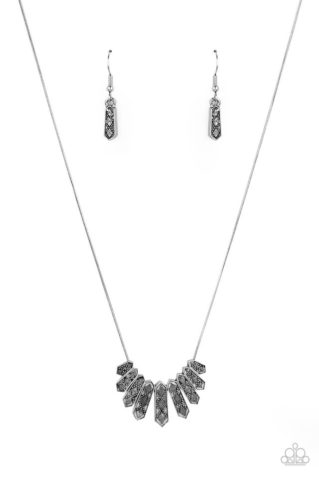 Monumental March - Silver - Paparazzi Necklace Image