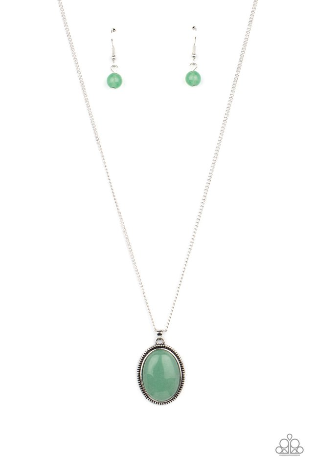 Tranquil Talisman - Green - Paparazzi Necklace Image