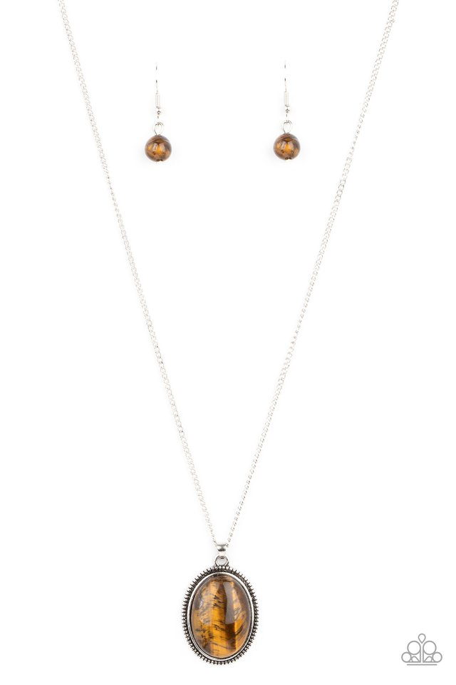 Tranquil Talisman - Brown - Paparazzi Necklace Image