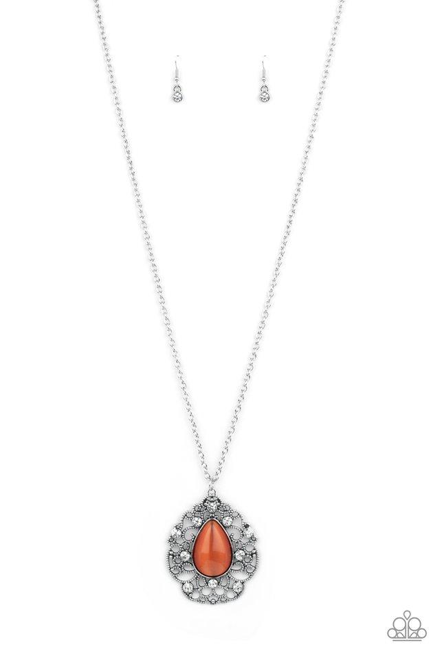 Bewitched Beam - Orange - Paparazzi Necklace Image