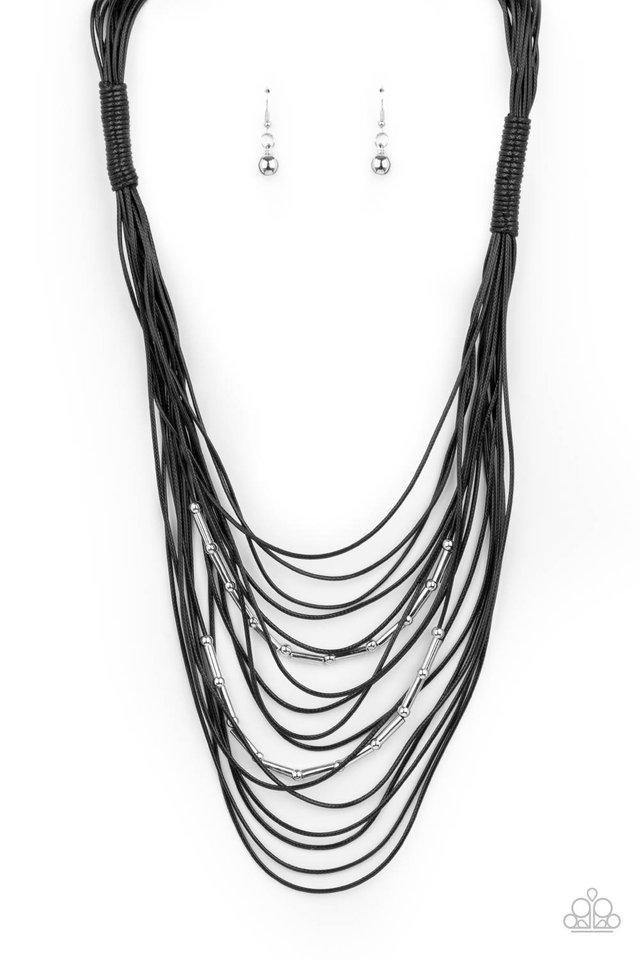 Nice CORD-ination - Black - Paparazzi Necklace Image