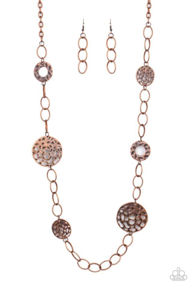 HOLEY Relic - Copper - Paparazzi Necklace Image