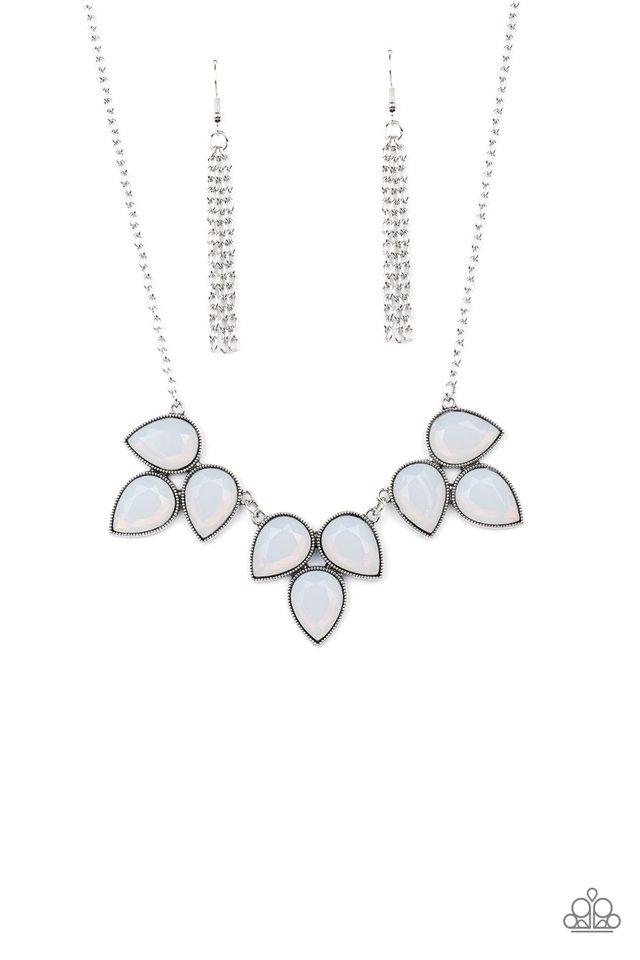 Prairie Fairytale - White - Paparazzi Necklace Image