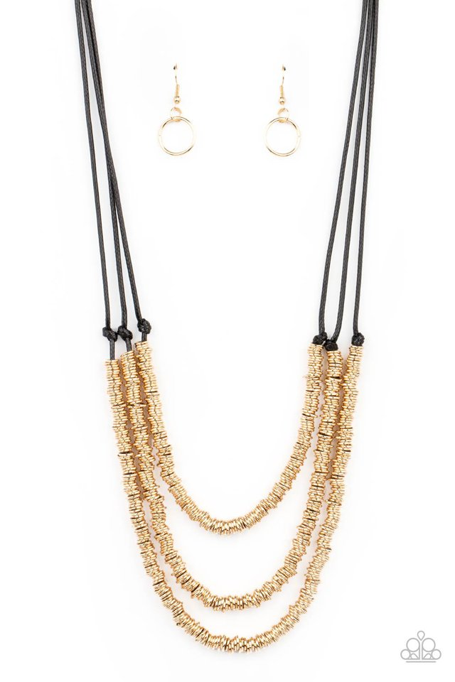 RING to Reason - Gold - Paparazzi Necklace Image