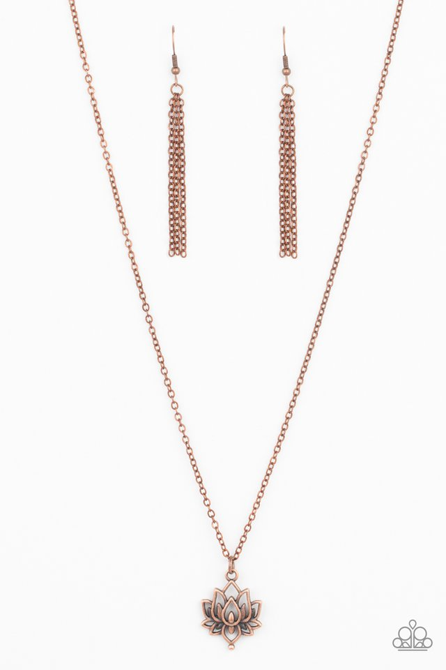 Lotus Retreat - Copper - Paparazzi Necklace Image