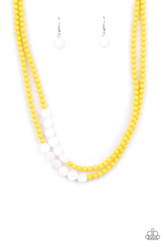 Extended STAYCATION - Yellow - Paparazzi Necklace Image