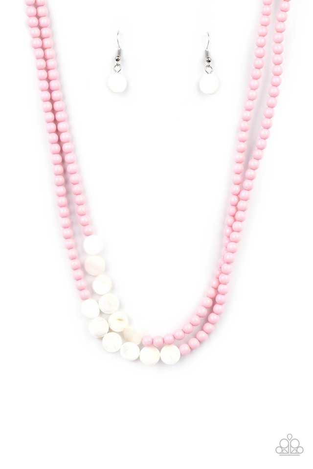 Extended STAYCATION - Pink - Paparazzi Necklace Image
