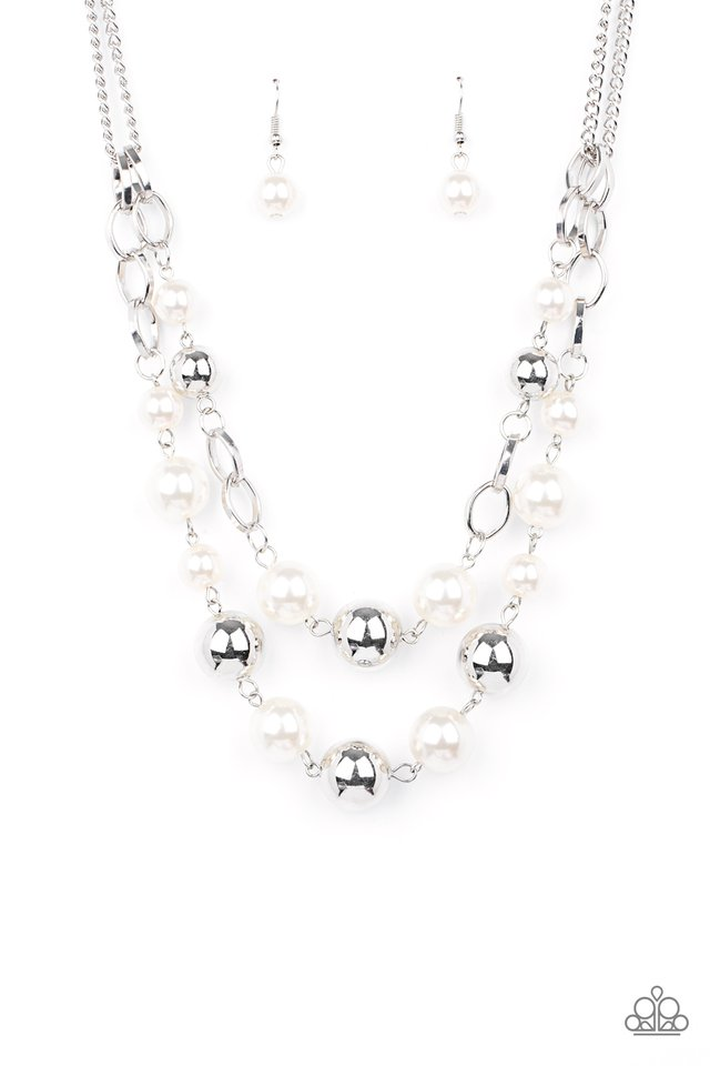 COUNTESS Your Blessings - White - Paparazzi Necklace Image