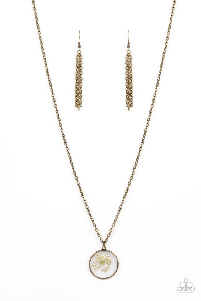 Tea Party Tease - Brass - Paparazzi Necklace Image