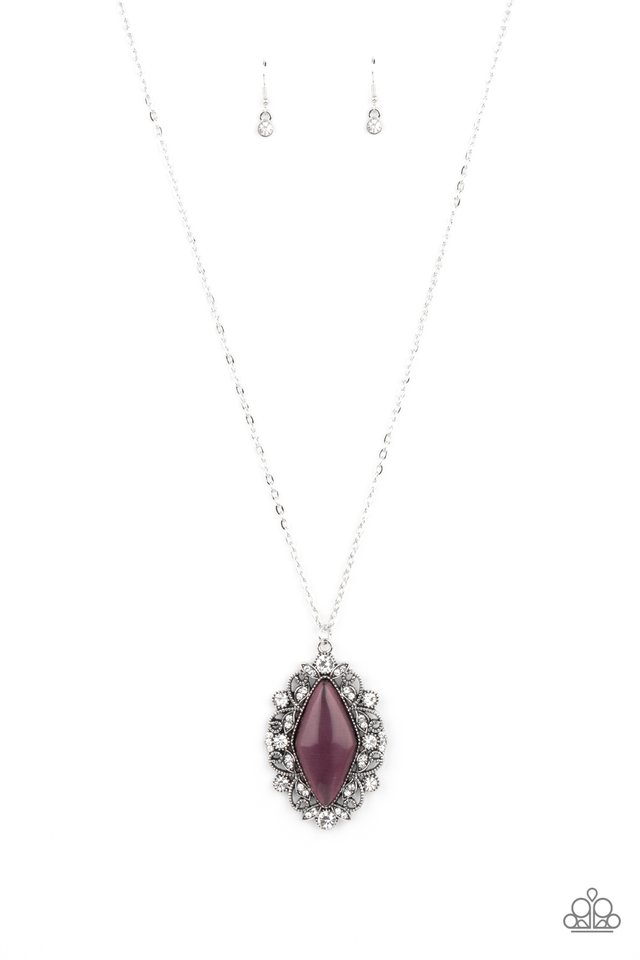 Exquisitely Enchanted - Purple - Paparazzi Necklace Image