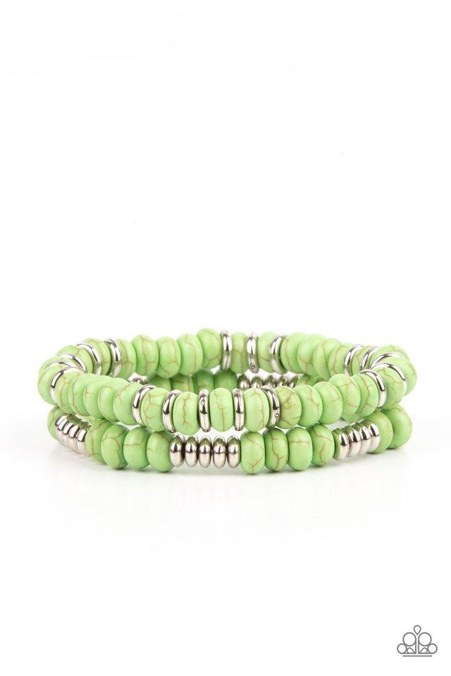 Desert Rainbow - Green - Paparazzi Bracelet Image