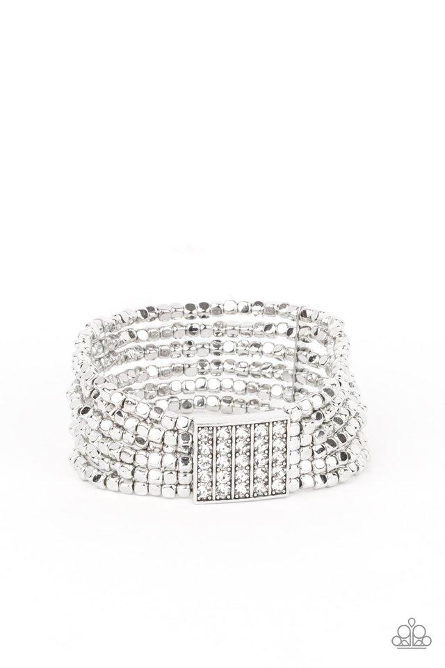 Star-Studded Showcase - White - Paparazzi Bracelet Image