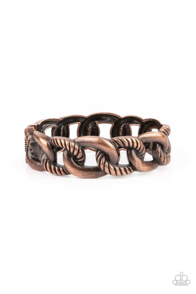 Bold Move - Copper - Paparazzi Bracelet Image