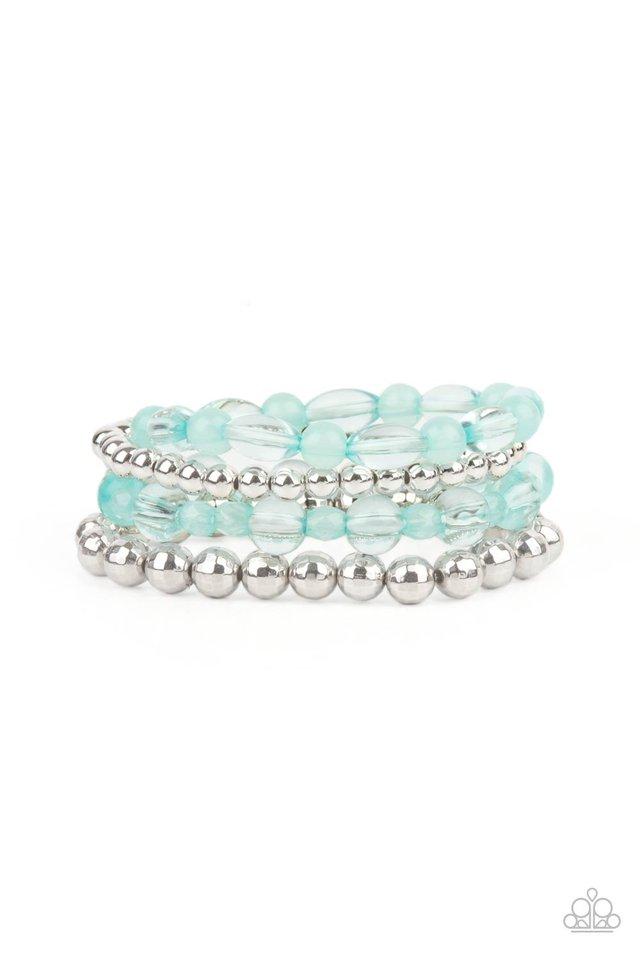 Delightfully Disco - Blue - Paparazzi Bracelet Image