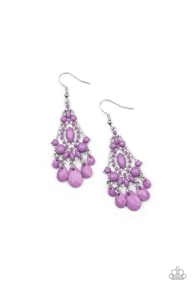 STAYCATION Home - Purple - Paparazzi Earring Image