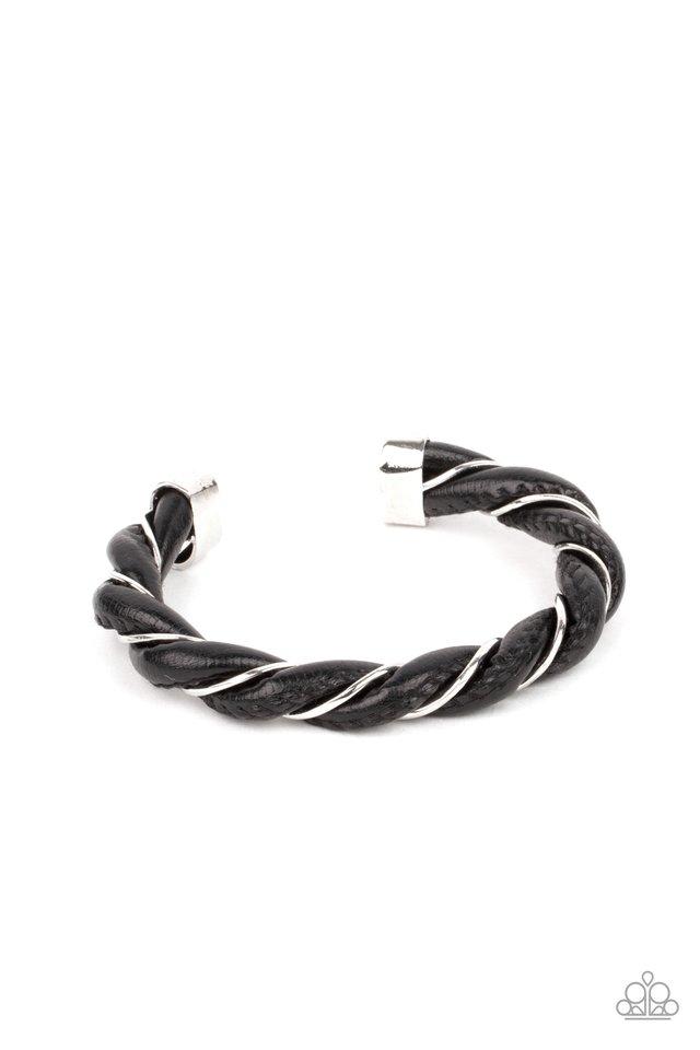 Rebel Relic - Black - Paparazzi Bracelet Image