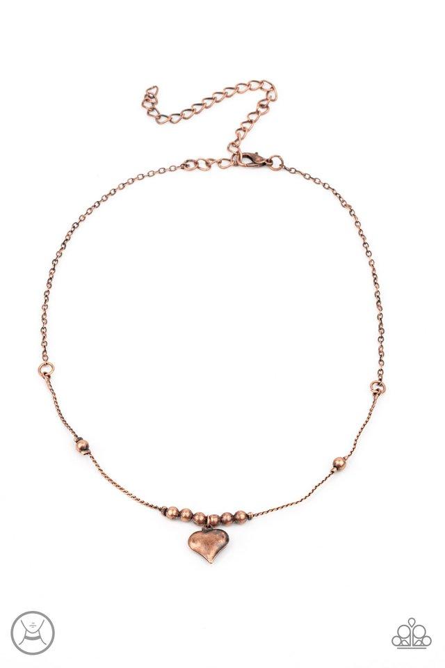 Casual Crush - Copper - Paparazzi Necklace Image