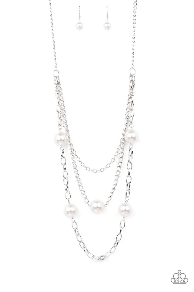 Thanks For The Compliment - White - Paparazzi Necklace Image