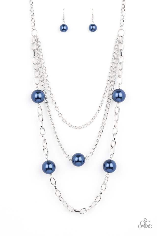 Thanks For The Compliment - Blue - Paparazzi Necklace Image