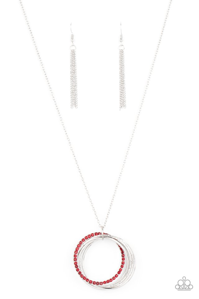 Harmonic Halos - Red - Paparazzi Necklace Image