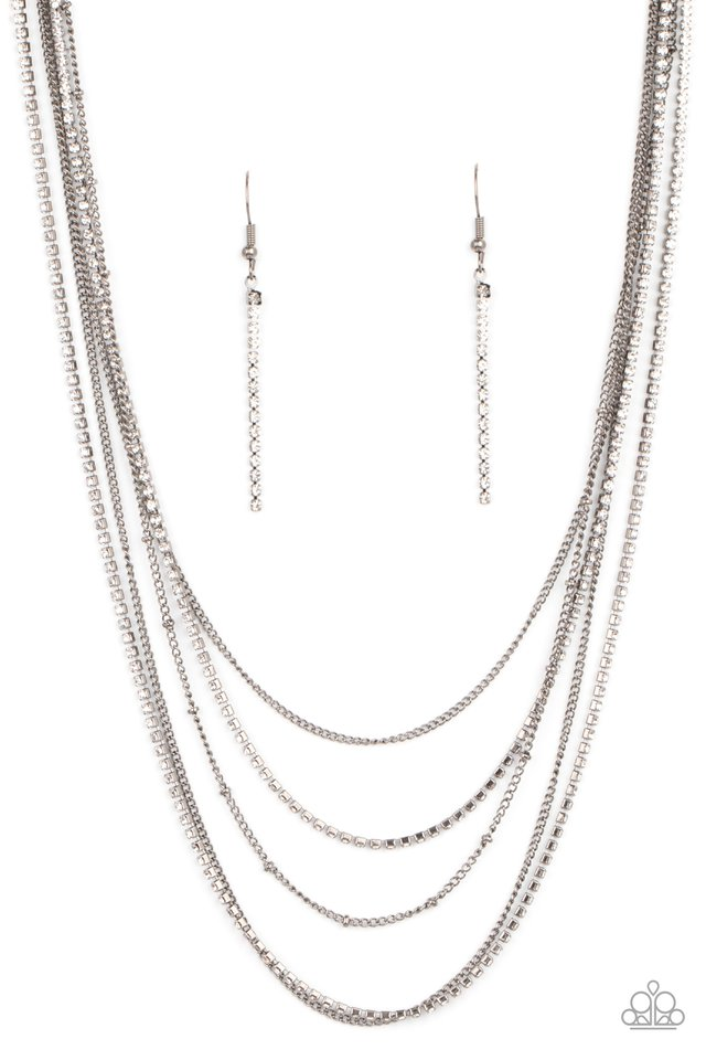 Dangerously Demure - Black - Paparazzi Necklace Image