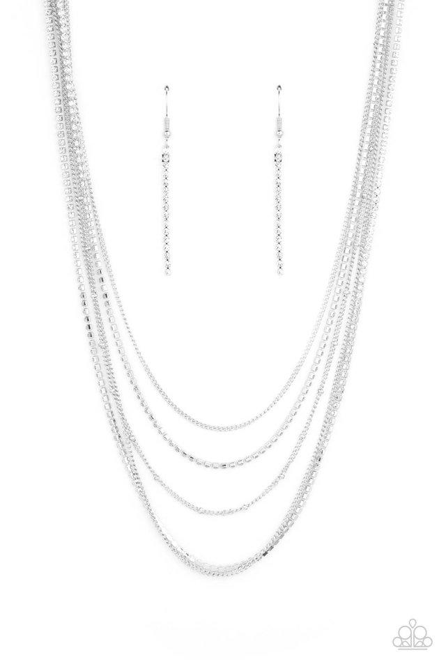Dangerously Demure - White - Paparazzi Necklace Image