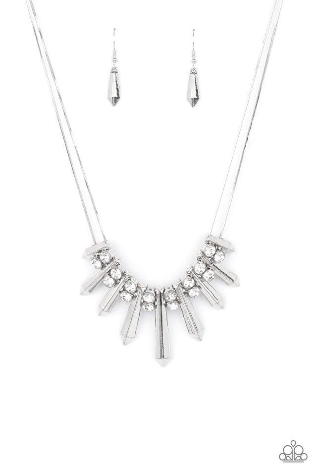 Dangerous Dazzle - White - Paparazzi Necklace Image