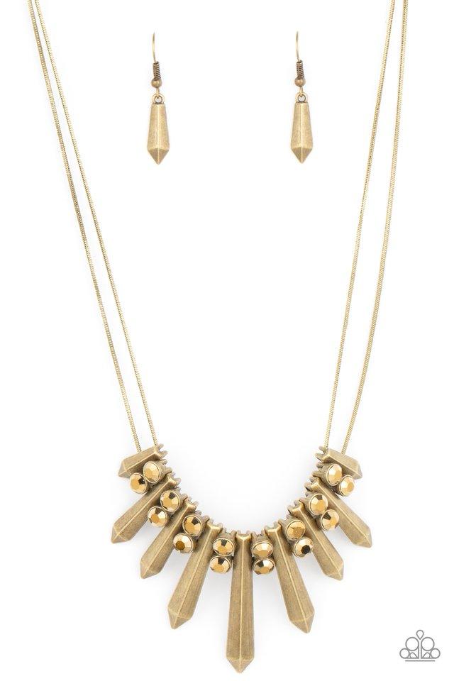 Dangerous Dazzle - Brass - Paparazzi Necklace Image