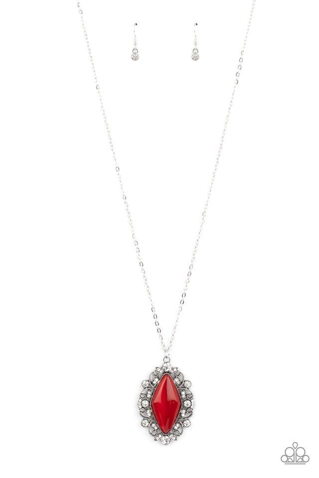 Exquisitely Enchanted - Red - Paparazzi Necklace Image