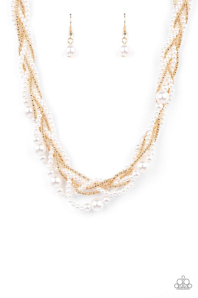 Royal Reminiscence - Gold - Paparazzi Necklace Image