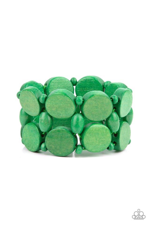 Beach Bravado - Green - Paparazzi Bracelet Image