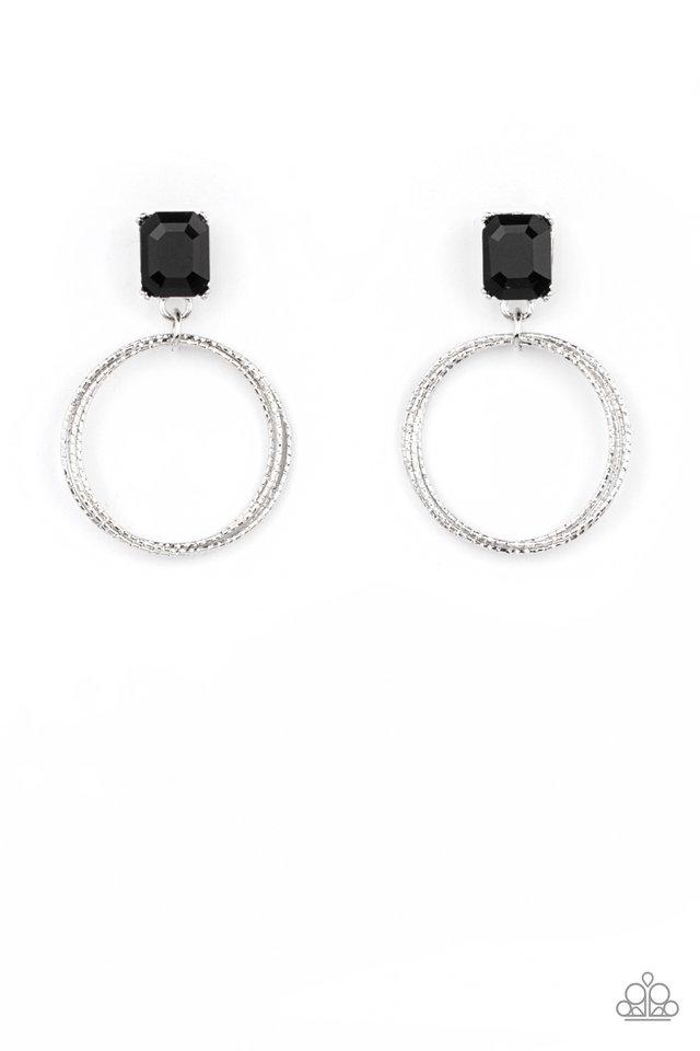 Prismatic Perfection - Black - Paparazzi Earring Image