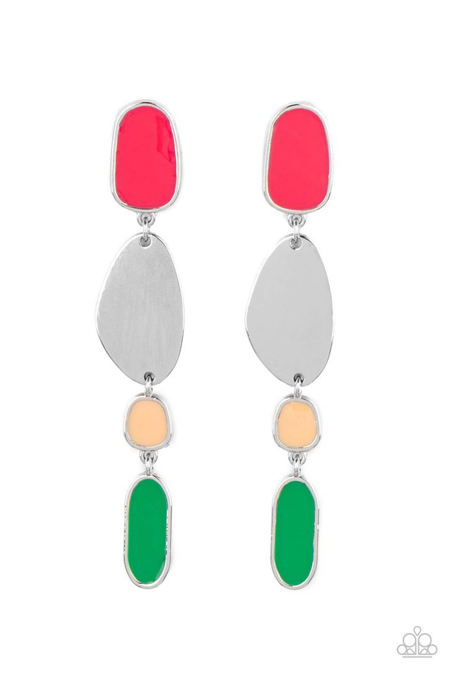 Deco By Design - Multi - Paparazzi Earring Image