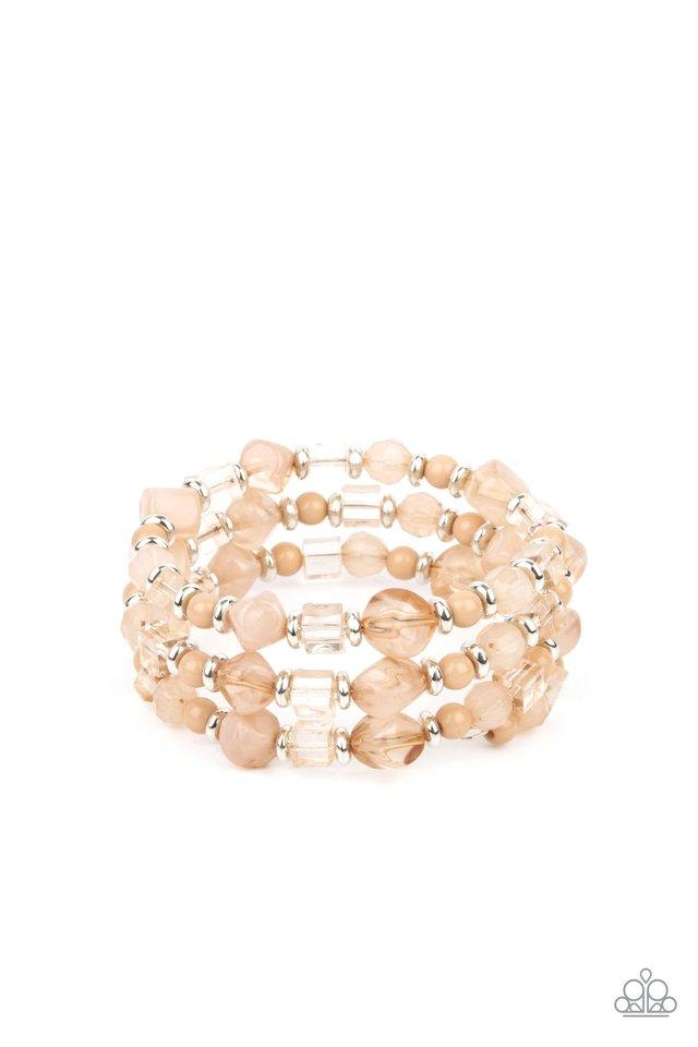 Girly Girl Glimmer - Brown - Paparazzi Bracelet Image