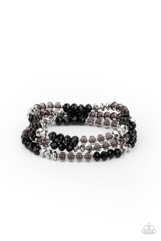 Stellar Strut - Black - Paparazzi Bracelet Image
