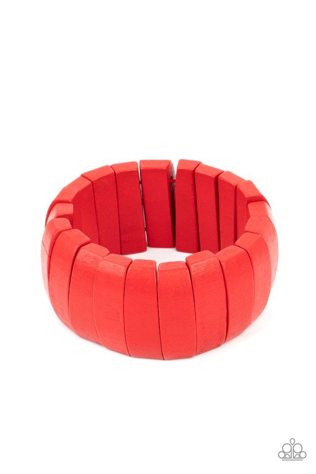 Raise The BARBADOS - Red - Paparazzi Bracelet Image