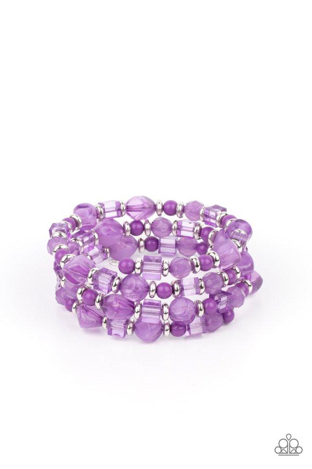 Girly Girl Glimmer - Purple - Paparazzi Bracelet Image