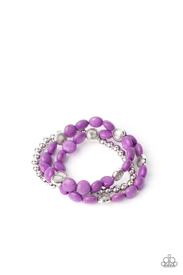 Desert Verbena - Purple - Paparazzi Bracelet Image