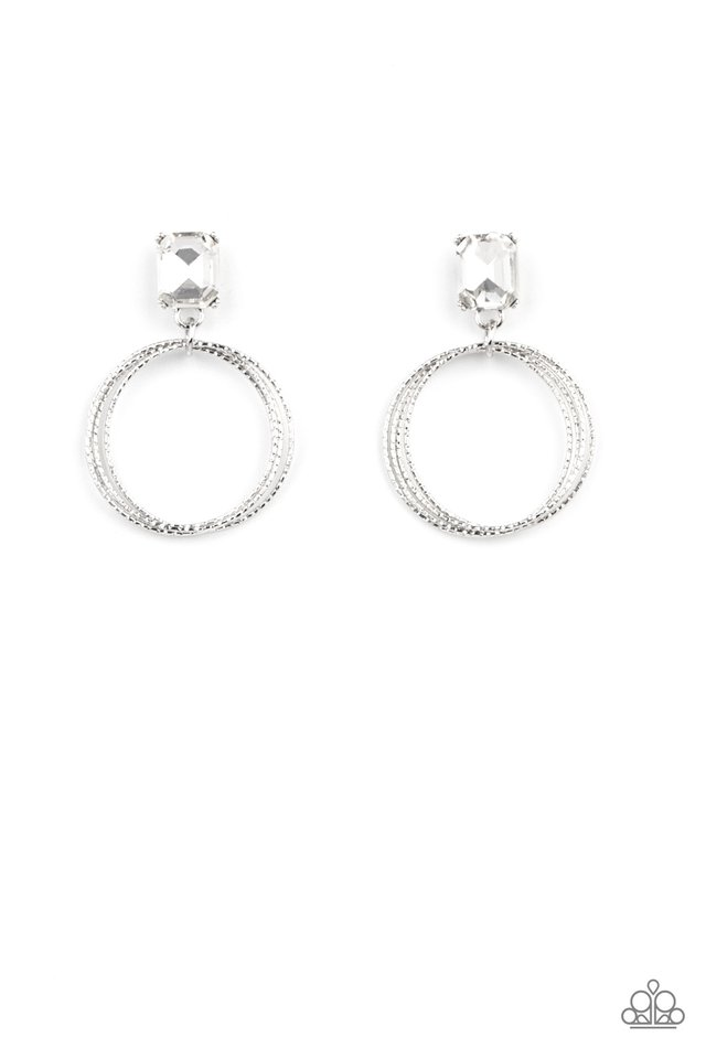 Prismatic Perfection - White - Paparazzi Earring Image