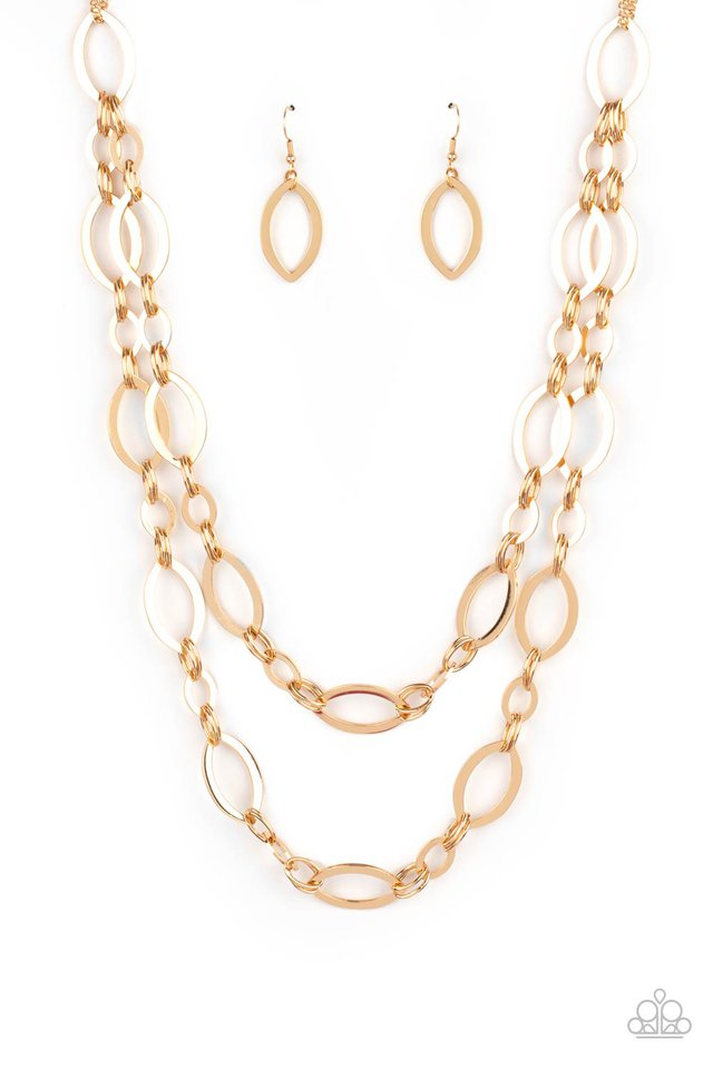The OVAL-achiever - Gold - Paparazzi Necklace Image