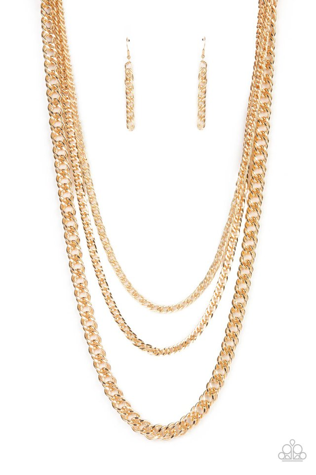 Chain of Champions - Gold - Paparazzi Necklace Image