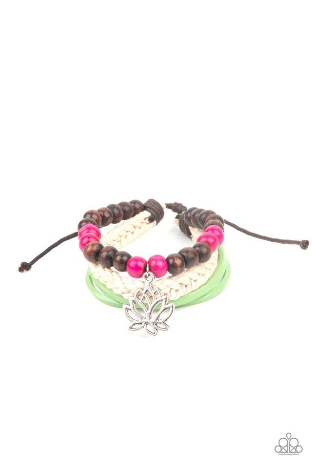 Lotus Beach - Pink - Paparazzi Bracelet Image