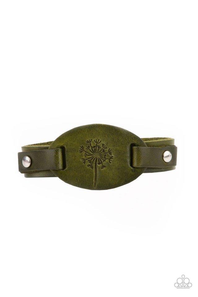 All Fine and DANDELION - Green - Paparazzi Bracelet Image