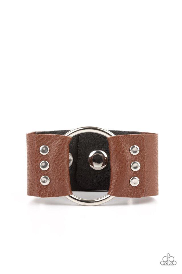Moto Mayhem - Brown - Paparazzi Bracelet Image