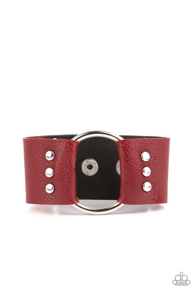 Moto Mayhem - Red - Paparazzi Bracelet Image